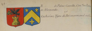 Blasons Palme Carrille et Ygou